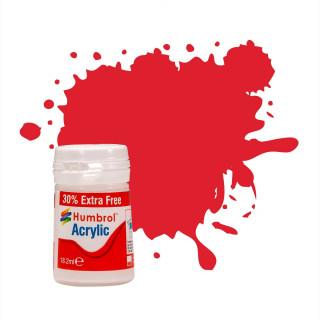 Humbrol barva akryl AB0019EP - No 19 Red Gloss (+ 30% navíc zdarma)