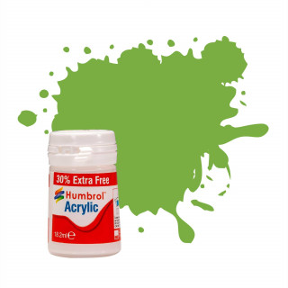 Humbrol barva akryl AB0038EP - No 38 Lime Gloss (+ 30% navíc zdarma)