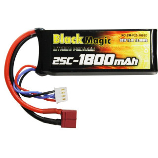 LiPol Black Magic 11.1V 1800mAh 25C Deans
