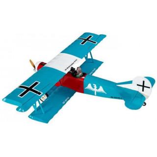 Fokker D.VII 1.2m ARF tyrkysový