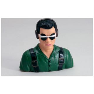 Pilot 1:4 civilní zelený