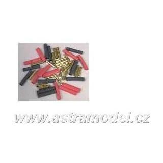 Konektor Gold 4mm (2 páry)