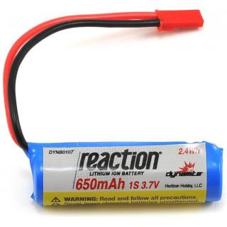 Baterie LiIon 3.7V 650mAh 1S JST React
