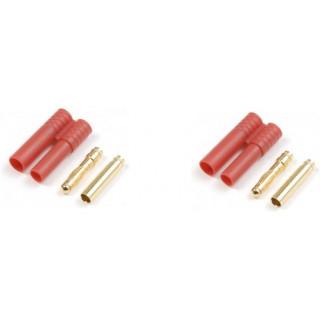 Konektor zlacený 4.0mm s plastovým krytem (1 pár)