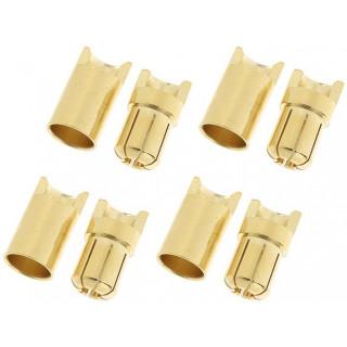 Konektor zlacený 6.5mm (4 páry)