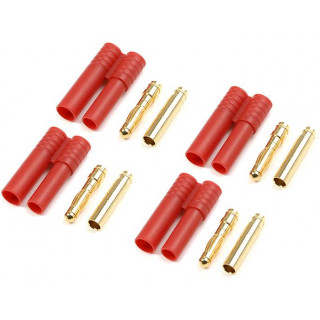 Konektor zlacený 4.0mm plastové pouzdro (4)
