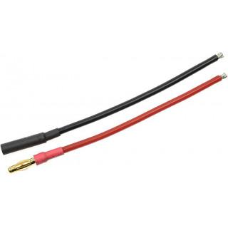 Konektor zlacený 4.0mm s kabelem kabel 14AWG 10cm (1 pár)