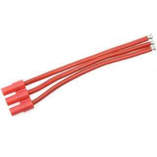 Konektor zlacený 3.5mm 3-pin samec s kabelem 14AWG 10cm