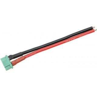 Konektor zlacený MPX samec s kabelem 14AWG 10cm
