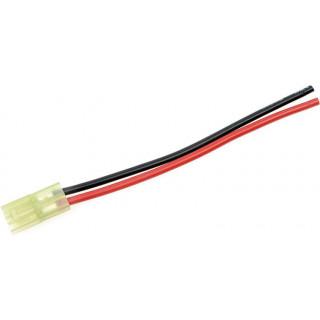 Konektor zlacený Mini Tamiya samice s kabelem 14AWG 10cm