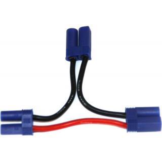 Kabel Y sériový EC5 zlacený 14AWG 12cm