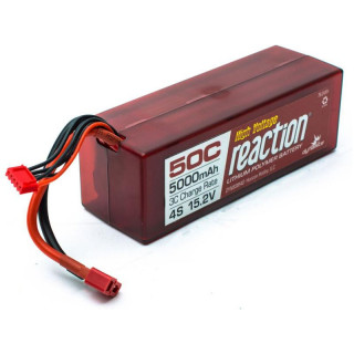 LiPol Reaction Car 15.2V HV 5000mAh 50C Deans