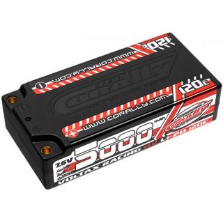Corally LiPo HV Voltax 7.6V 5000mAh 120C Short EFRA