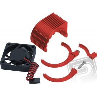 Radical Motor chladič + větráček - červený
