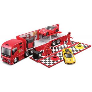 Bburago 1:43 Ferrari Racing Hauler