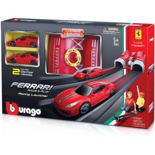 Bburago 1:43 Ferrari Launcher + 2x auto