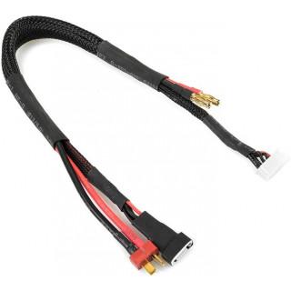 Corally nabíjecí kabel s banánky a 6S XH - Deans/4S XH 30cm