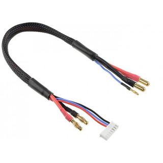 Corally nabíjecí kabel s banánky a 6S XH - 5mm/2mm 30cm