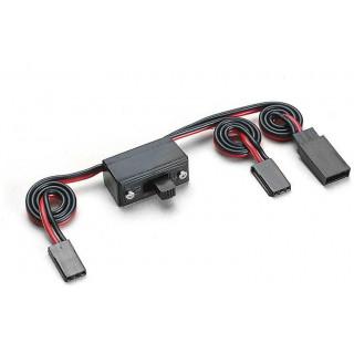 Vypínač s kabely a konektorem universal Futaba/JR 22AWG
