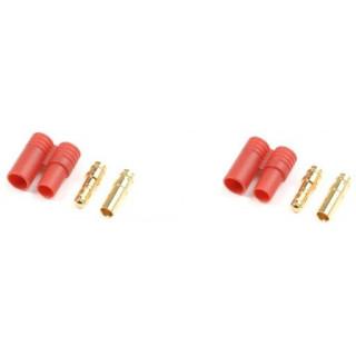 Konektor zlacený 3.5mm s plastovým krytem (1 pár)