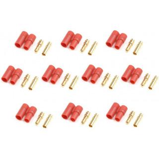 Konektor zlacený 3.5mm s plastovým krytem (5 párů)