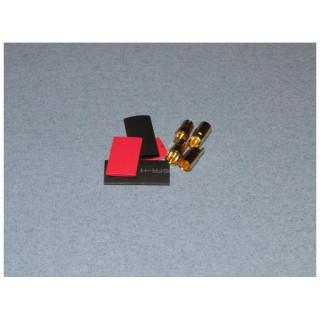 Konektor zlacený 6.0mm (2 páry)
