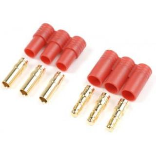 Konektor zlacený 3.5mm 3-pin plastové pouzdro (1 pár)