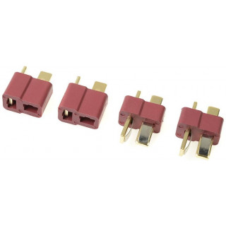 Konektor zlacený Deans (2 páry)