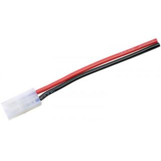 Konektor zlacený Tamiya samice s kabelem 14AWG 12cm