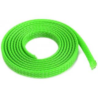 Ochranný kabelový oplet 6mm zelený (1m)