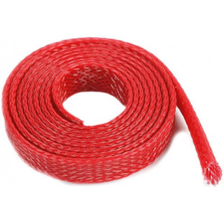 Ochranný kabelový oplet 8mm červený (1m)