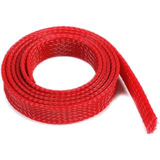 Ochranný kabelový oplet 14mm červený (1m)