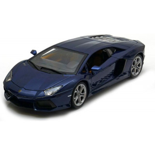 Bburago Plus Lamborghini Aventador LP 700-4 1:18 modrá metalíza