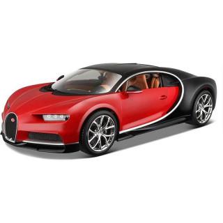 Bburago Plus Bugatti Chiron 1:18 červená