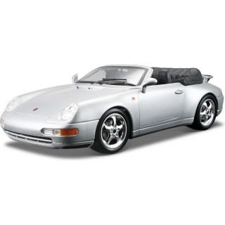 Bburago Gold Porsche 911 Carrera kabriolet 1:18 stříbrná