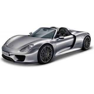 Bburago Plus Porsche 918 Spyder 1:24 stříbrná