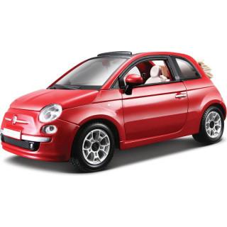 Bburago Fiat 500C Cabriolet 1:24 červená