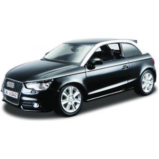 Bburago Audi A1 1:24 černá metalíza