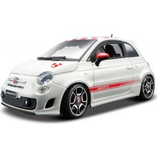 Bburago Kit Fiat Abarth 500 1:24 bílá