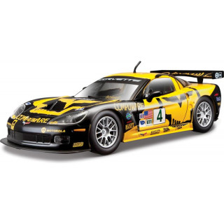 Bburago Chevrolet Corvette C6R 1:24 žlutá