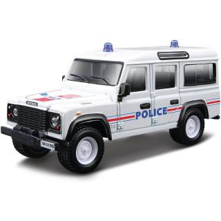 Bburago Land Rover Defender 110 1:50 bílá - policie