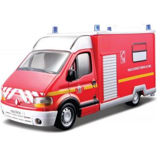 Bburago Renault Master 1:50 červená - policie