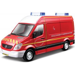 Bburago Mercedes-Benz Sprinter 1:50 červená - hasiči