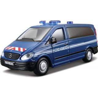 Bburago Mercedes-Benz Vito 1:50 modrá - policie