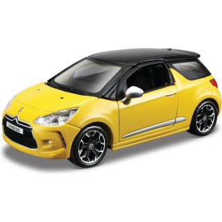 Bburago Citroën DS3 1:32 žlutá