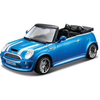 Bburago Mini Cooper S Cabriolet 1:32 modrá metalíza