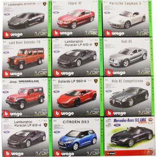 Bburago Kit sada modelů aut 1:32 12ks