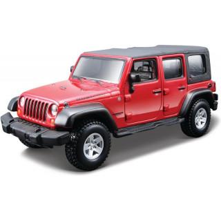 Bburago Kit Jeep Wrangler Unlimited Rubicon 1:32 červená