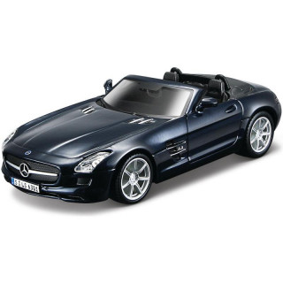 Bburago Kit Mercedes-Benz SLS AMG Roadster 1:32 modrá metalíza
