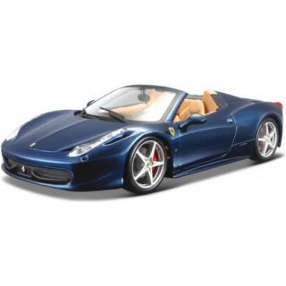 Bburago Ferrari 458 Spider 1:64 modrá metalíza